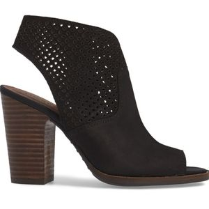 Lucky Brand Lizara Perforated Block Heel